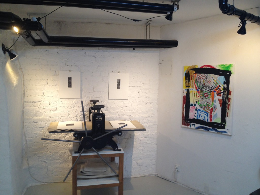 The studio in Gothenburg 2014 (during a group exhibition)